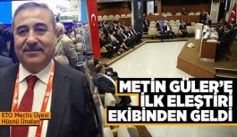 ETO Meclis Üyesi Ünalan: Yönetimin sanayici ağırlıklı olmasından 'Çarşı' memnun değil