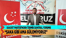"""SAADET PARTİSİ'NDEN TERMİK SANTRAL YORUMU """"ŞAKA GİBİ AMA GÜLEMİYORUZ"""""""
