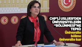 """CHP'Lİ USLUER'DEN ÜNİVERSİTELERİN """"BÖLÜNMESİ""""NE TEPKİ"""