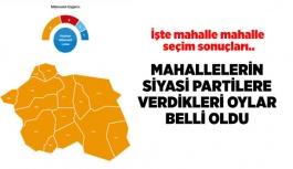 Eskişehir'de mahalle mahalle seçim sonuçları