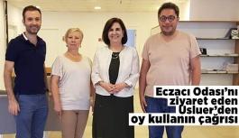 USLUER ECZACILAR ODASI'NI ZİYARET ETTİ