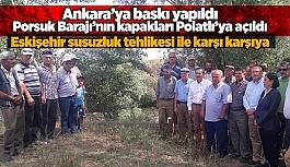 ALPULU ÇİFTÇİLERDEN SU TEPKİSİ