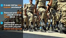 Bedelli askerlik düzenlemesinin detayları...