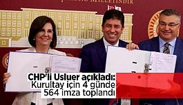 CHP'li muhalifler dördüncü günde 564 imzaya ulaştı