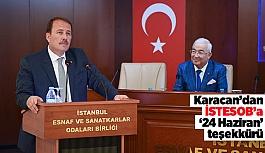 Karacan'dan İSTESOB'a '24 Haziran' teşekkürü
