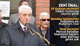 ZEKİ ÜNAL, 'MUHARREM İNCE' DEDİ