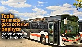 GECE RİNG SEFERLERİ BAŞLIYOR