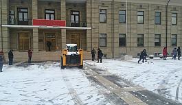 Karla mücadele için seferber oldular
