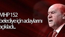 MHP 152 belediye için adaylarını açıkladı