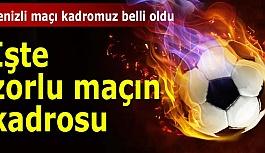 Eskişehirspor'un Denizlispor kadrosu...