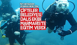 ÇİFTELER BELEDİYESİ DALIŞ EKİBİ MARMARİS'TE...