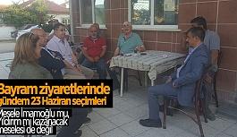 ÇİFTELER'DE İSTANBULLU SEÇMENLERLE BULUŞTU
