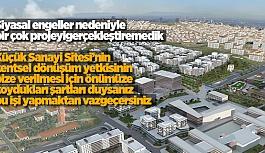 """AK PARTİ KEYFİ OLARAK YAPTIRMAM DEDİ"""