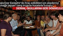 """ÇAKIRÖZER:""""DERHAL OKULLARINA GERİ DÖNMELİLER"""""""