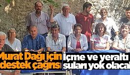 Murat Dağı için destek çağrısı