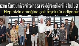 Kazım Kurt üniversite hoca ve öğrencileri ile buluştu