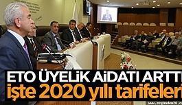 ETO'DA ÜYE AİDATLARINA ZAM GELDİ