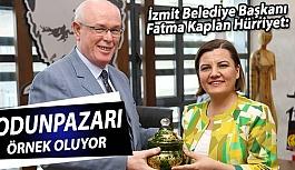 İzmit Belediye Başkanı Fatma Kaplan Hürriyet Kazım Kurt'u ziyaret etti
