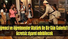 Öğrenci ve öğretmenler Atatürk ile...