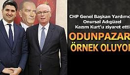 CHP Genel Başkan Yardımcısı Onursal Adıgüzel Kazım Kurt'u ziyaret etti