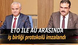 Anadolu Üniversitesi ile Eskişehir Ticaret Odası arasında iş birliği protokolü imzalandı