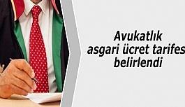 Avukatlık asgari ücret tarifesi belirlendi