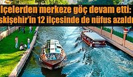 Eskişehir'in 12 ilçesinde de nüfus azaldı
