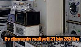 Ev dizmenin maliyeti 21 bin 282 lira