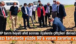 CHP heyeti: Eskişehir çiftçisinin sahipsiz bırakılması kabul edilemez