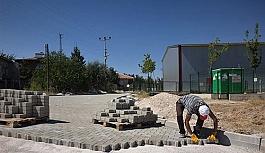 Mahmudiye'de üst yapı çalışmaları...