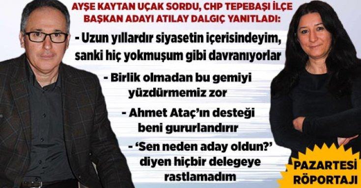 CHP Tepebaşı İlçe Başkan Adayı Atilay Dalgıç