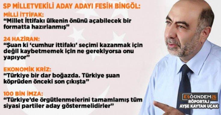 Saadet Partisi Eskişehir milletvekili aday adayı Fesih Bingöl