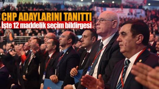 CHP ANKARA'DA ADAYLARINI TANITTI