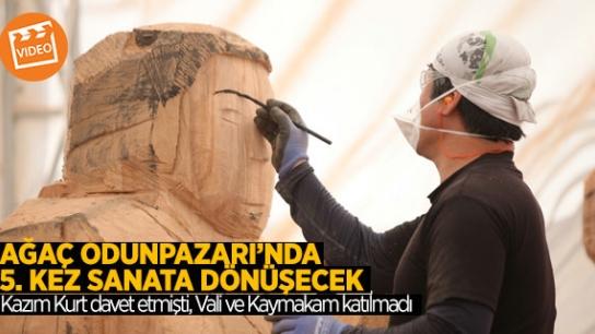 ULUSLARARASI AHŞAP HEYKEL FESTİVALİ  BAŞLADI
