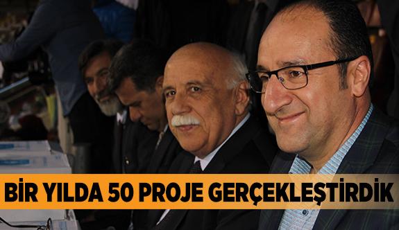 BİR YILDA 50 PROJE GERÇEKLEŞTİRDİK