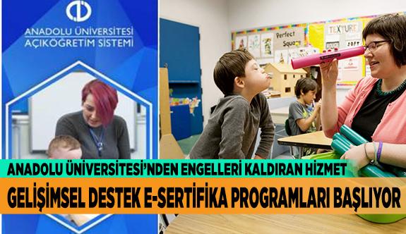GELİŞİMSEL E-SERTİFİKA PROGRAMLARI KAYITLARI BAŞLIYOR