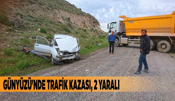 GÜNYÜZÜ'NDE TRAFİK KAZASI, 2 YARALI