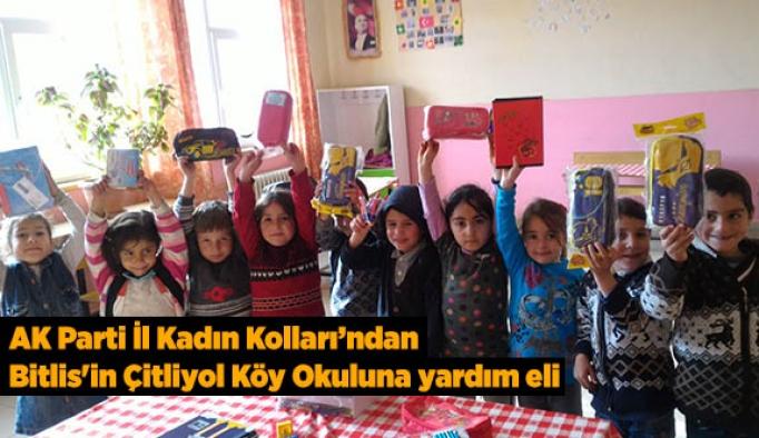 AK Parti İl Kadın Kollarından Bitlis'in Mutki ilçesi Çitliyol köy okuluna yardım eli