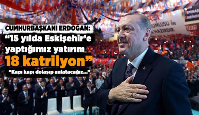 Cumhurbaşkanı Erdoğan: 15 yılda Eskişehir'e 18 Katrilyon yatırım yaptık
