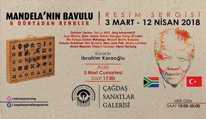 """""""Mandela'nın Bavulu ve Dünyadan Renkler"""" Sergisi 3 Mart'ta Odunpazarı'nda"""
