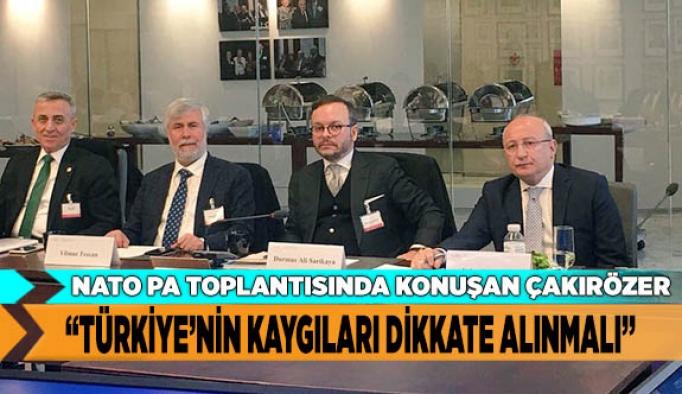 """UTKU ÇAKIRÖZER """"TÜRKİYE'NİN KAYGILARI DİKKATE ALINMALI"""""""
