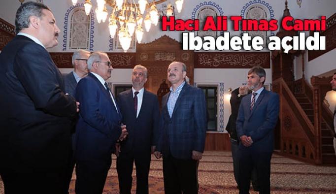 Hacı Ali Tınas Cami ibadete açıldı