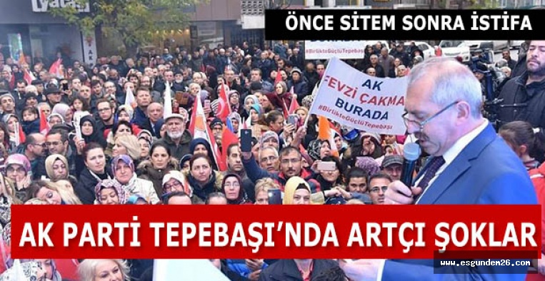 AK Parti Tepebaşı teşkilatından sitem dolu istifa