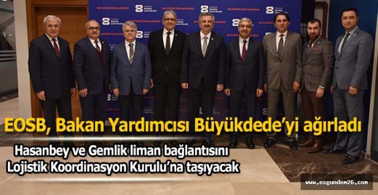 EOSB, Bakan Yardımcısı Hasan Büyükdede'yi ağırladı
