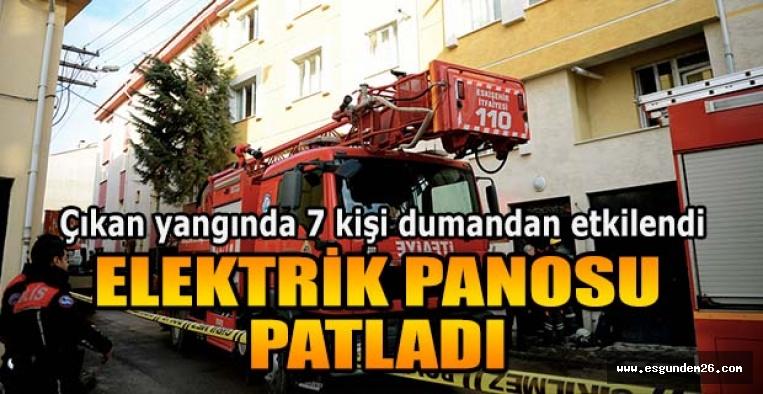 ESKİŞEHİR'DE ELEKTRİK PANOSU PATLADI