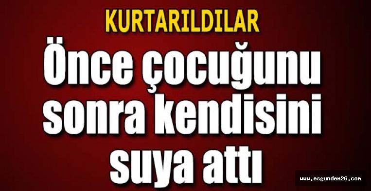 Eskişehir'de, 6 yaşındaki oğlunu parktaki suni gölete attı