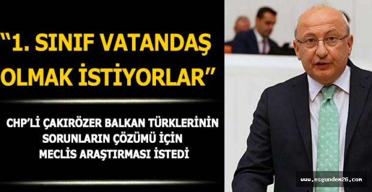 """""""BALKAN TÜRKLERİ YALNIZ BIRAKILMAMALI"""""""