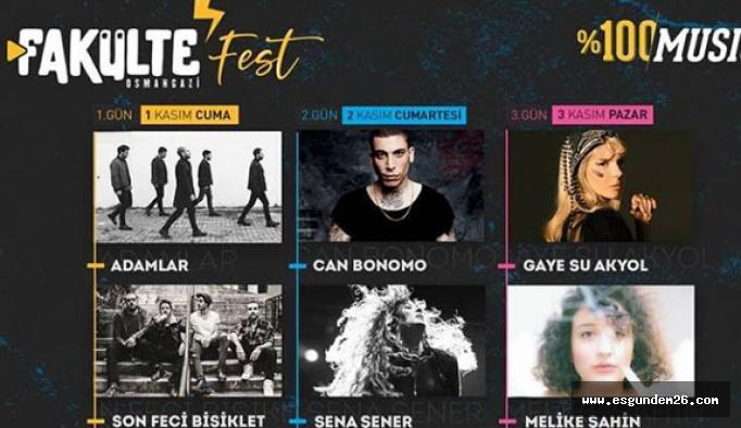 Fakülte Fest 1-3 Kasım'da