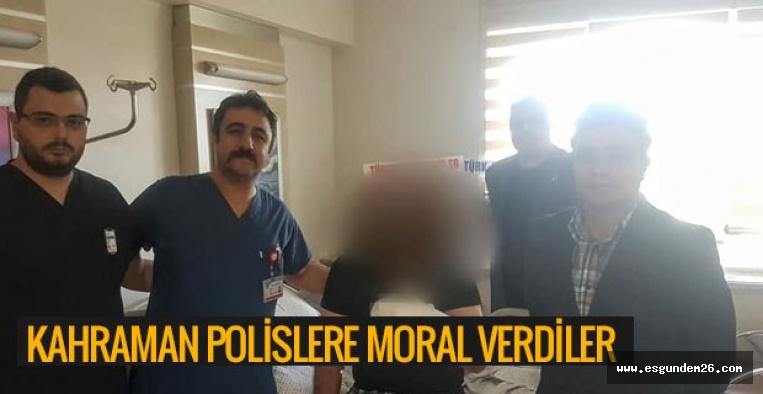 KAHRAMAN POLİSLERE MORAL VERDİLER