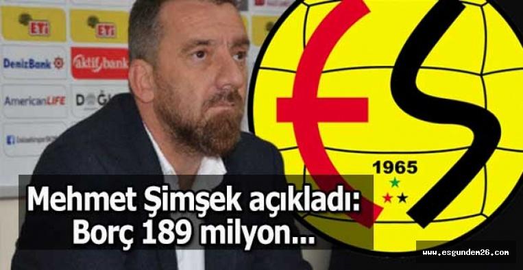 Mehmet Şimşek açıkladı: Borç 189 milyon